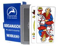 >Deck of Bergamasche Italian Regional Playing Cards