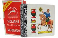 >Deck of Siciliane N96 Italian Regional Playing Cards