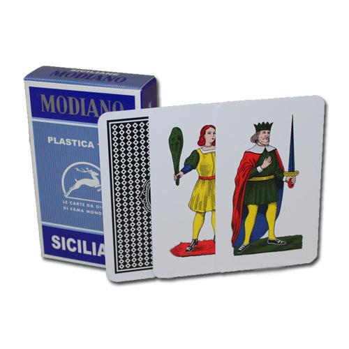>Deck of Siciliane 96/10 Italian Regional Playing Cards