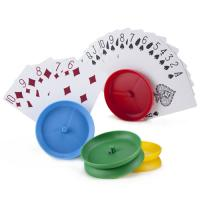 >Set of 4 Circle-shaped Hands-free Playing Card Holders