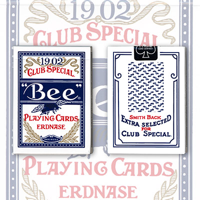 >Erdnase 1902 Bee Playing Cards - Blue Smith No. 2 Back (Cambric