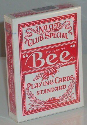 Bee Deck Red (Poker Size)