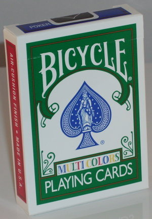 >Bicycle Deck (808) Poker Sized Multi Coloured