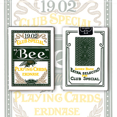 Erdnase 1902 Bee Playing Cards - Green Acorn Back (Ivory Finish)
