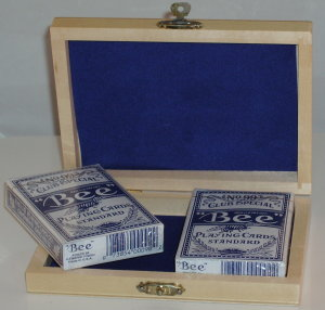 Wooden Deck Box with 2 Decks